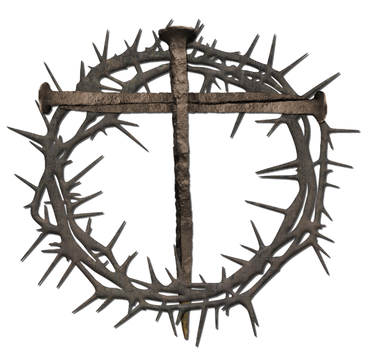 Clip Arts Related To : Jesus on cross with crown of thorns clipart - Crown Of Thorns PNG HD