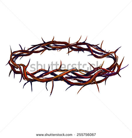 crown of thorns vector illustration hand drawn painted - Crown Of Thorns PNG HD