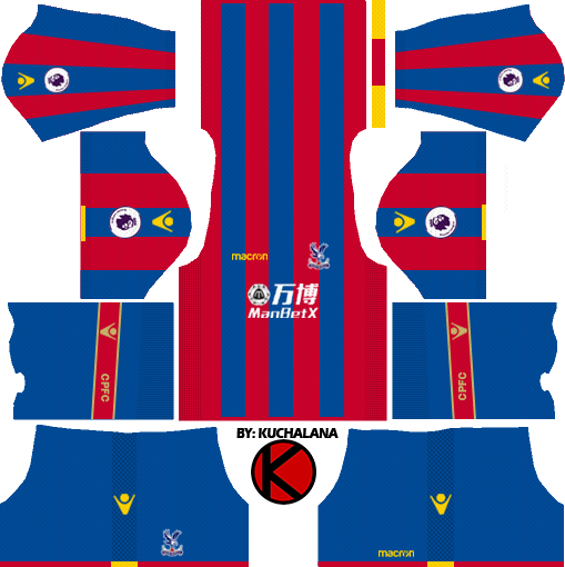 Crystal Palace F.C. Kits 2017/2018 - Dream League Soccer - Crystal Palace Fc PNG