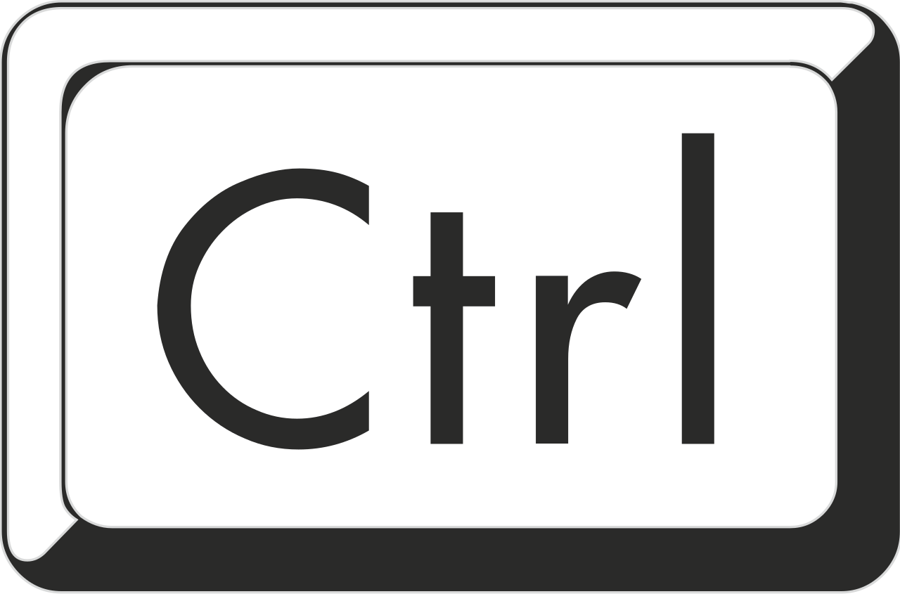 File:WikiMooc Key CTRL.svg - Ctrl Key PNG