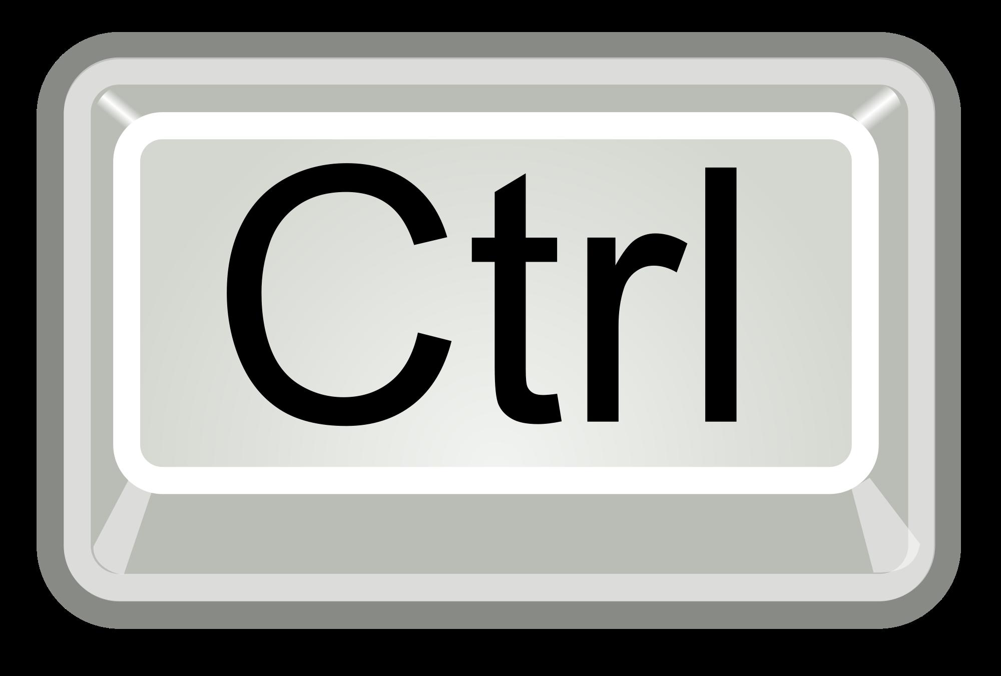 Ctrl Key PNG - 133346