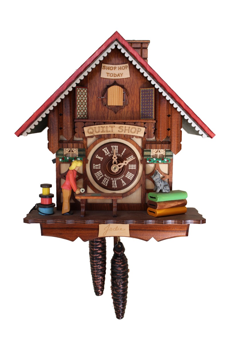 April Wood look: Quilt Shop Cuckoo Clock - Cuckoo Clock PNG