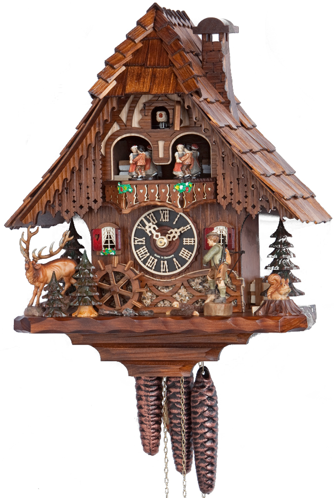 BLACK FOREST IMPORTS, INC - Clocks | Cuckoo Clocks | 1 Day Chalet Music | - Cuckoo Clock PNG