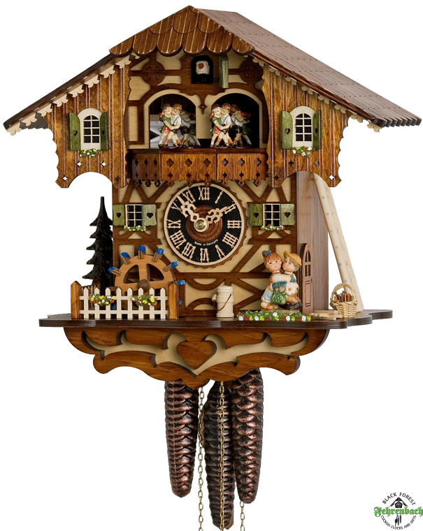 Chalet Cuckoo Clock With Kissing Couple - Hönes - Cuckoo Clock PNG