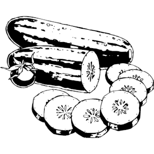 Cucumber clipart black and white #10 - Cucumber Slice PNG Black And White