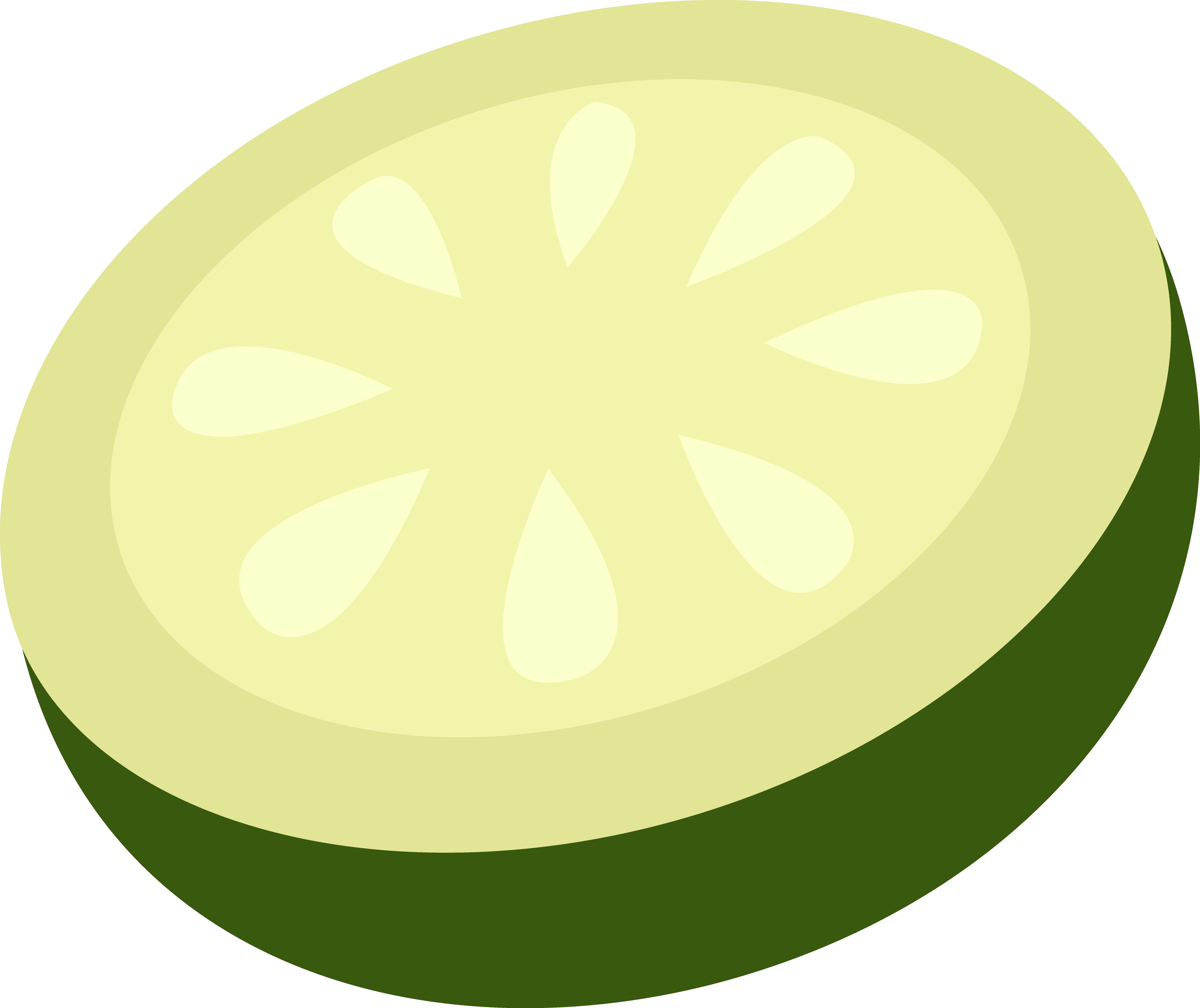 Cucumber clipart cucumber slice #1 - Cucumber Slice PNG Black And White