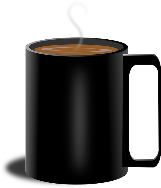 black cup PNG Transparent image - Cup PNG
