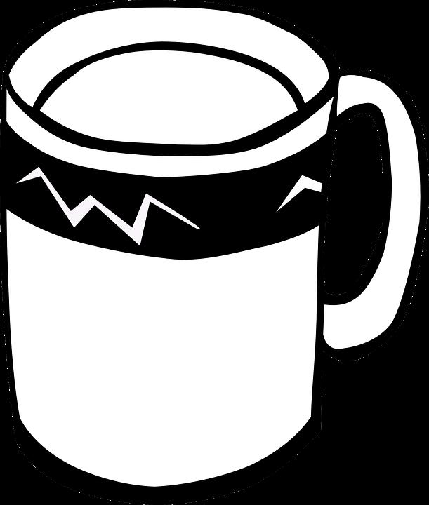 kupa sap siyah ve beyaz içki içecek - Cups PNG Black And White