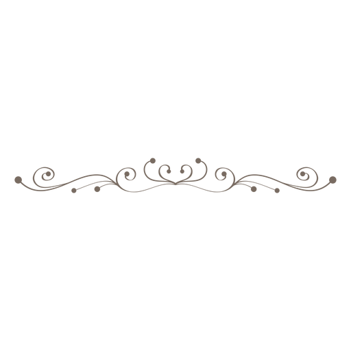Curly swrils decorative divider png - Decorative Line Black PNG