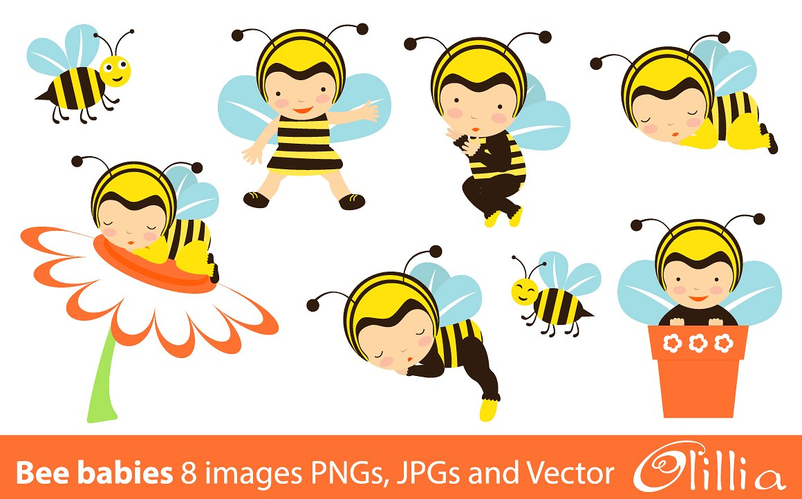 Cute Baby Bee PNG-PlusPNG.com-1160 - Cute Baby Bee PNG