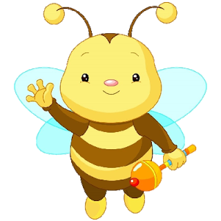 Baby Bee Waving - Cute Baby Bee PNG