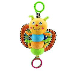 Baby Stroller Toys Hanging Musical Toy for 0-6 Year Old Baby Rattles with  Bell Gift Soft Plush Doll - Cute Baby Bee PNG