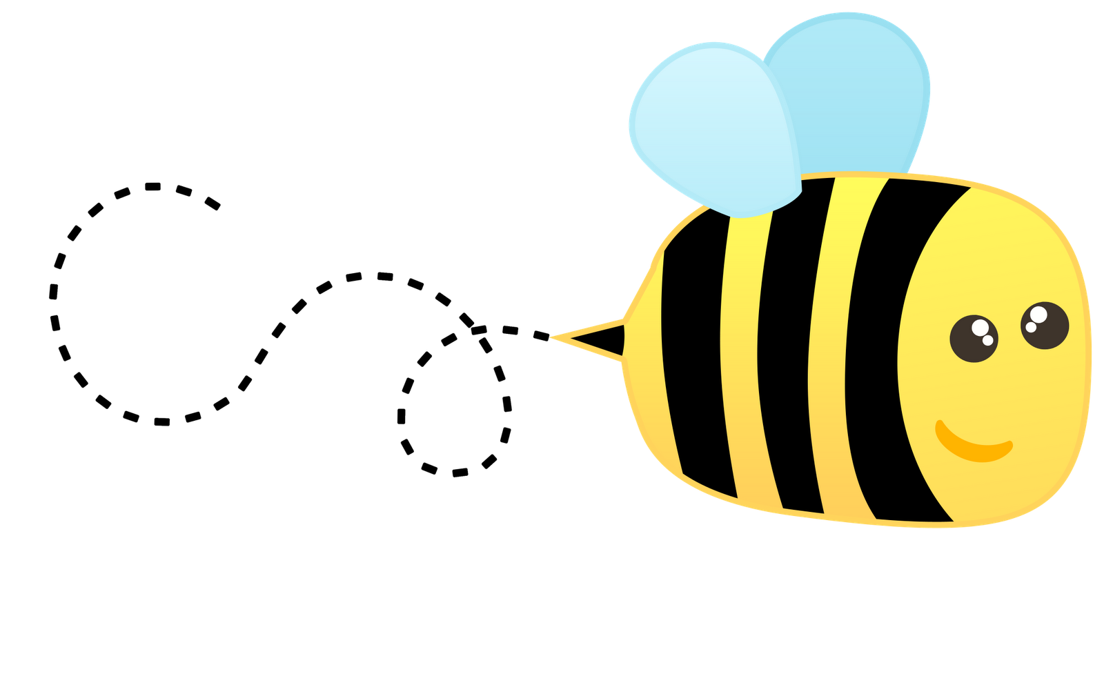 buzzing bee clipart - Cute Baby Bee PNG