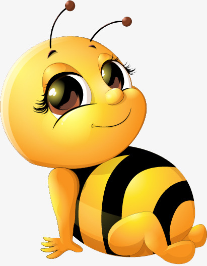 cute baby bee, Hand Painted, Cartoon, Insect PNG Image and Clipart - Cute Baby Bee PNG