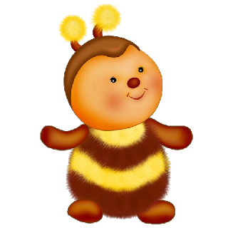 Cute Baby Bee With Black And Yellow Stripes - Cute Baby Bee PNG