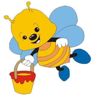 Cute Bees - Cartoon Animal Images - Cute Baby Bee PNG
