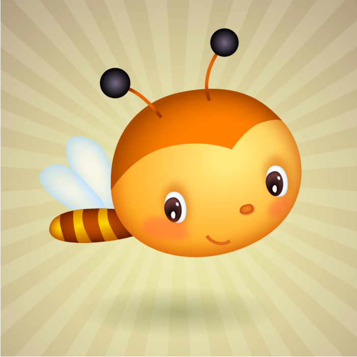 Cute Easter Baby Bee - Cute Baby Bee PNG