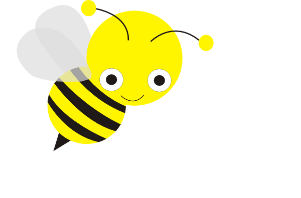 Download this image as: - Cute Baby Bee PNG