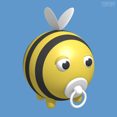 The-Young-Bee-babybijtje - Cute Baby Bee PNG