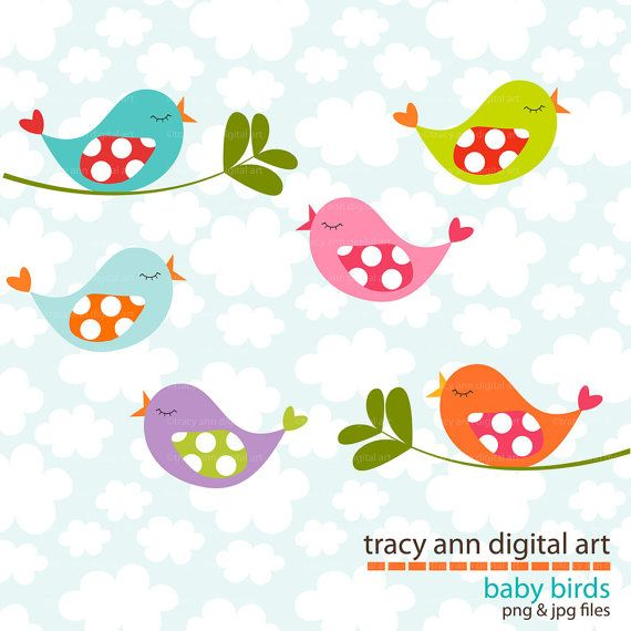 baby bird clipart for baby room If you need to paint brids on the wall - Cute Baby Bird PNG