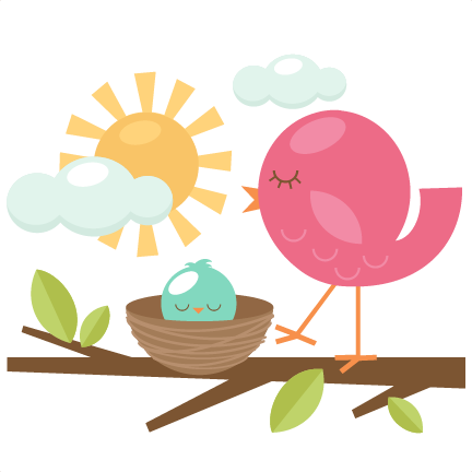 Mom u0026 Baby Bird SVG cutting files for scrapbooking cute svg cuts free svgs  for cricut cutting files silhouette - Cute Baby Bird PNG