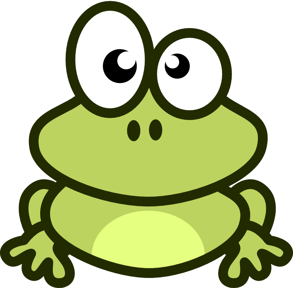Frog Clip Art - Cute Baby Frog PNG