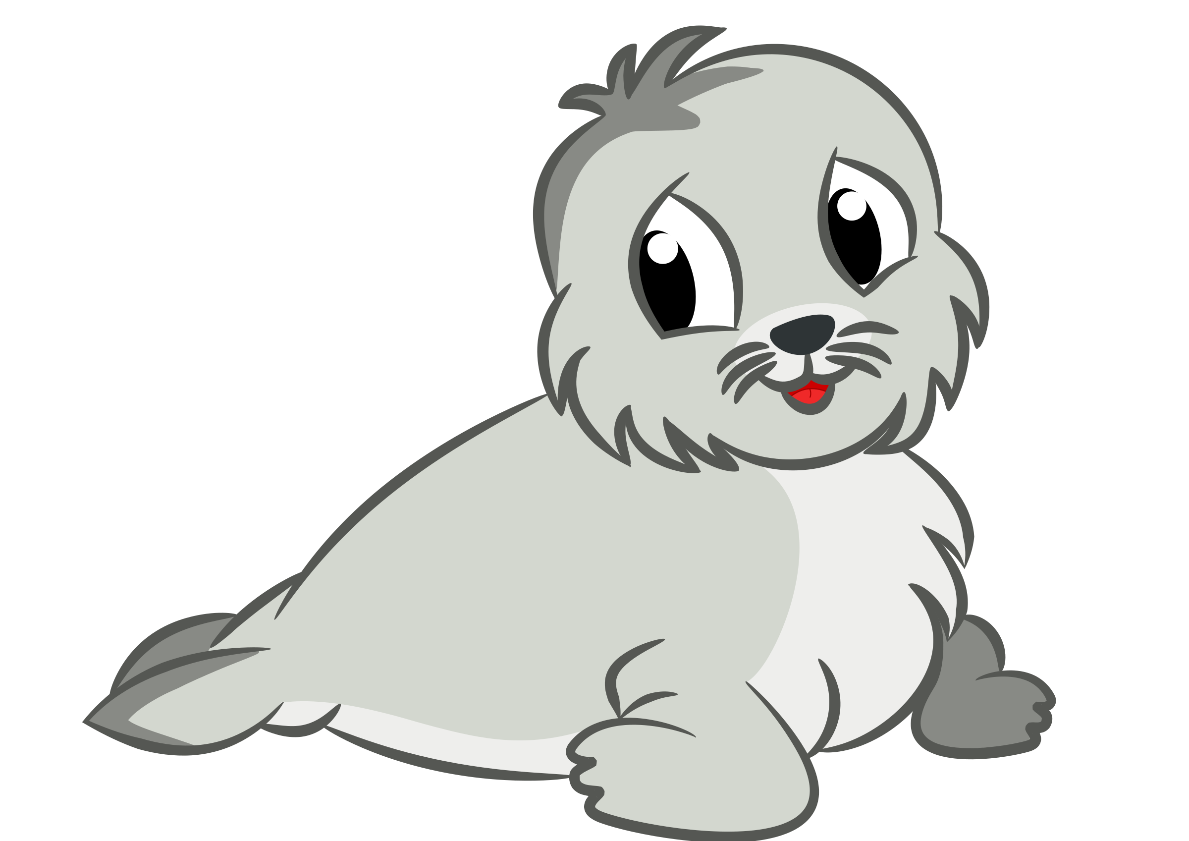 This free Icons Png design of Baby seal drawing PlusPng.com  - Cute Baby Seal PNG