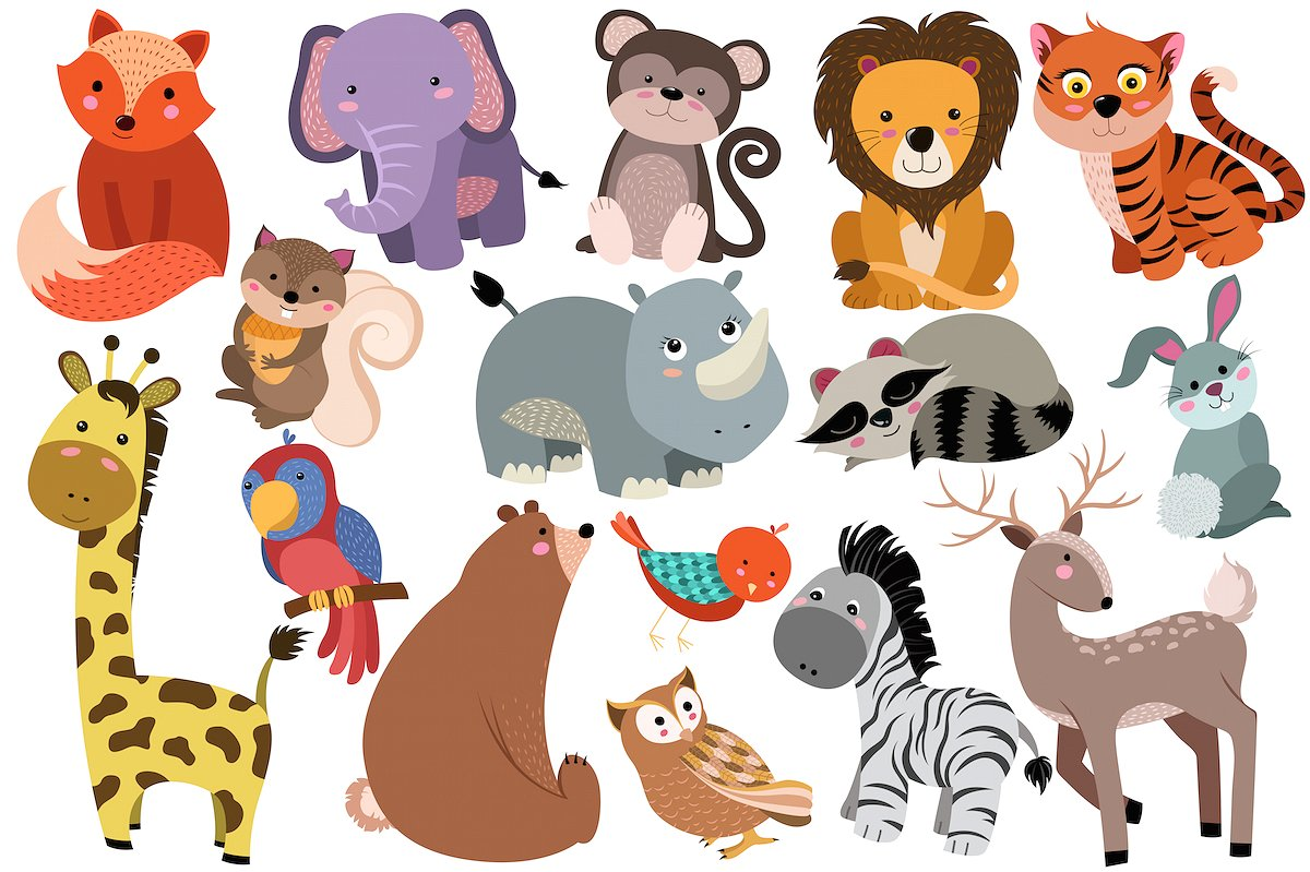 Cute Baby Zoo Animals PNG - 166542