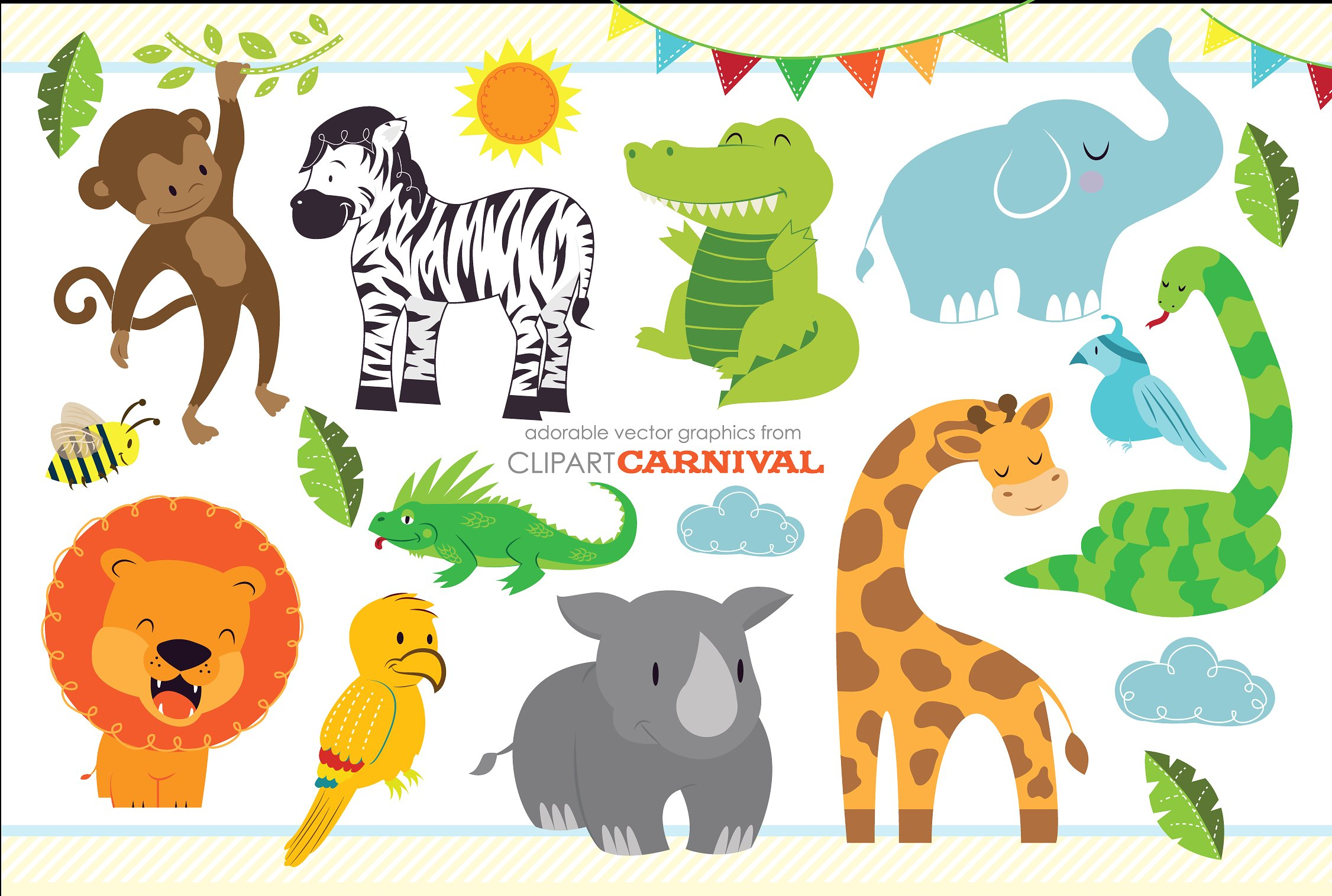 Cute Baby Zoo Animals PNG - 166538