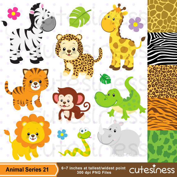 Cute Baby Zoo Animals PNG - 166532