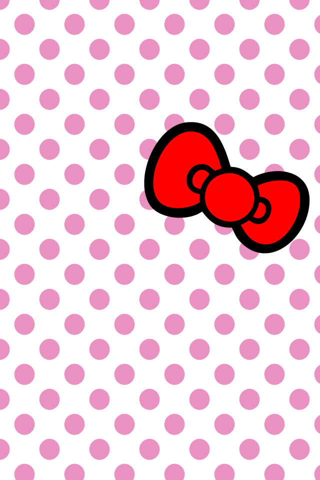 hellokitty bow iPhone wallpaper by will-yen PlusPng.com  - Cute Bow PNG HD