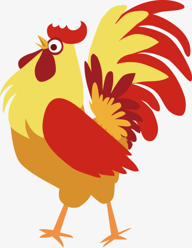 Cartoon chicken pattern, Color, Year Of The Rooster, Chicken PNG Image - Cute Chicken PNG HD