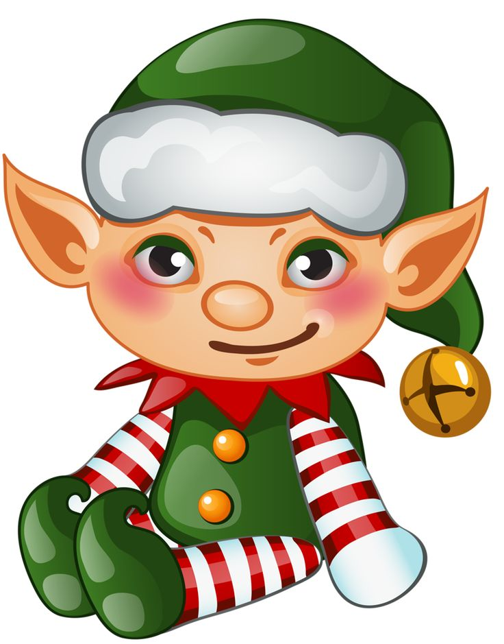 2016 Merry Christmas and Happy New Year vector background 12 (23).png - Cute Elves PNG