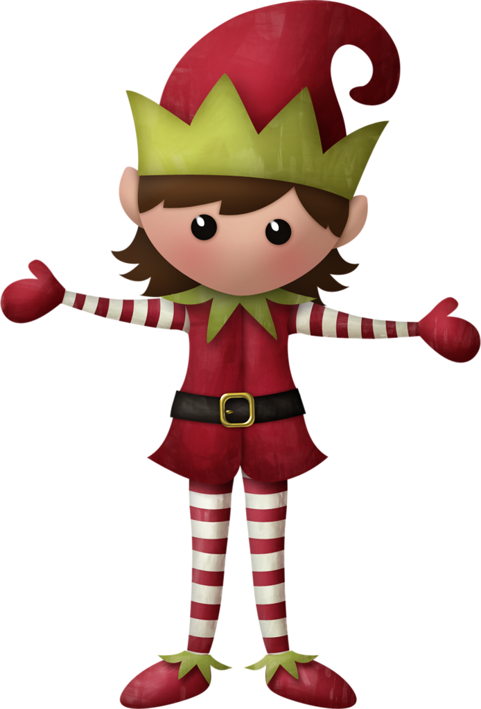 CHRISTMAS KIDS Digital Clipart - Cute Elves PNG