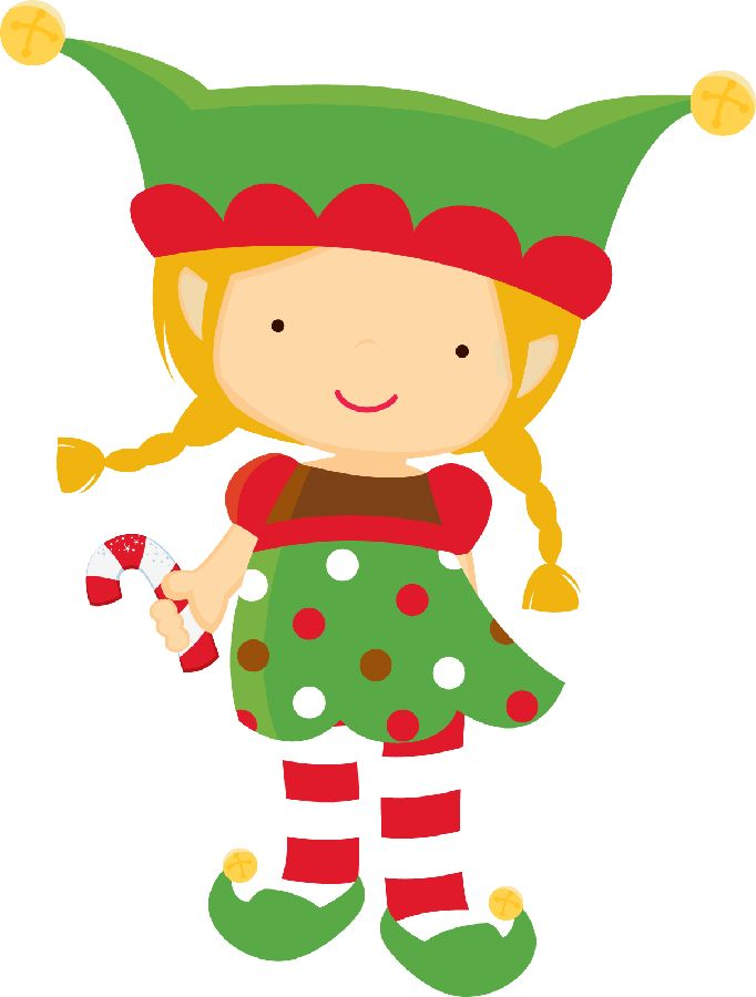 Free-christmas-elf-clipart-image-2.jpg - Cute Elves PNG