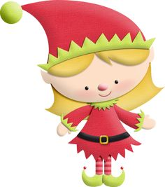 interesting christmas elf - Cute Elves PNG