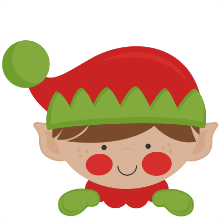Peeking Elf SVG scrapbook cut file cute clipart files for - Cute Elves PNG