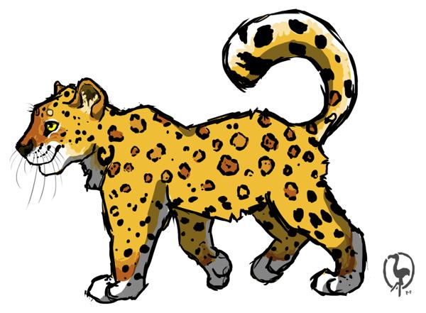 Cute Jaguar PNG - 70053