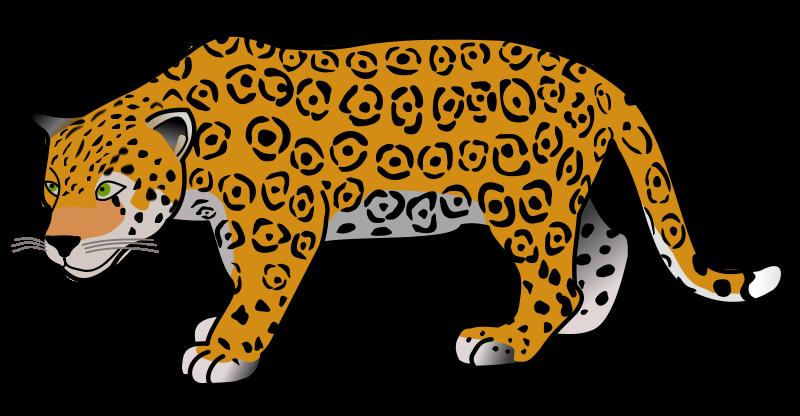 Jaguar Clip Art Black And White - Cute Jaguar PNG