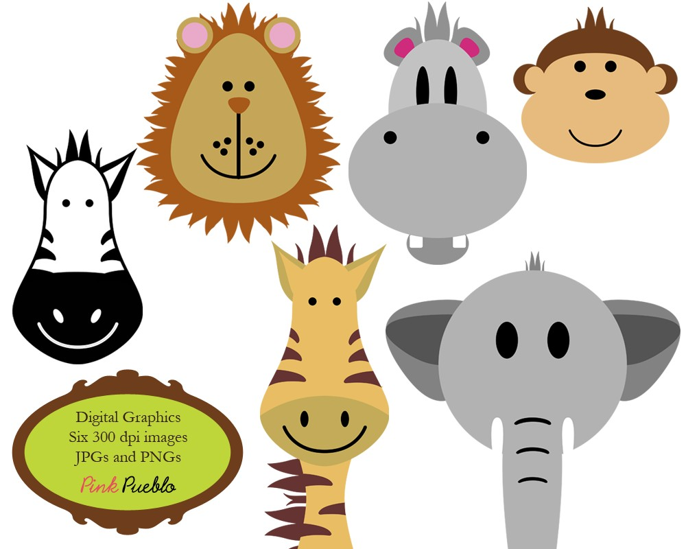 Animals Clip Art Clipart Zoo Jungle Safari Wild by PinkPueblo