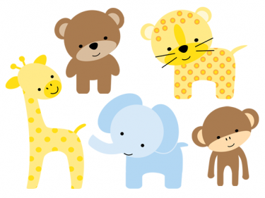 Cute Jungle Animals PNG HD - 121605