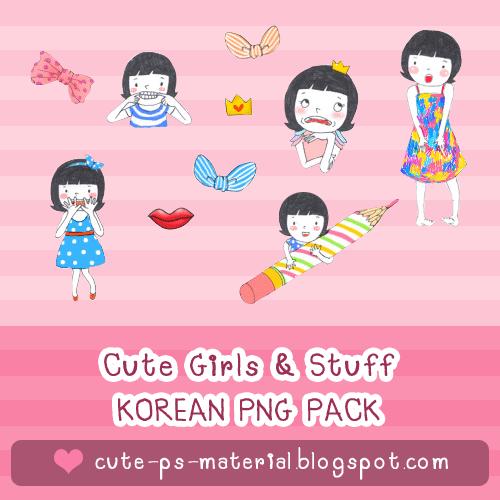 แจก korea png pack น่ารักๆ - Cute Korean PNG