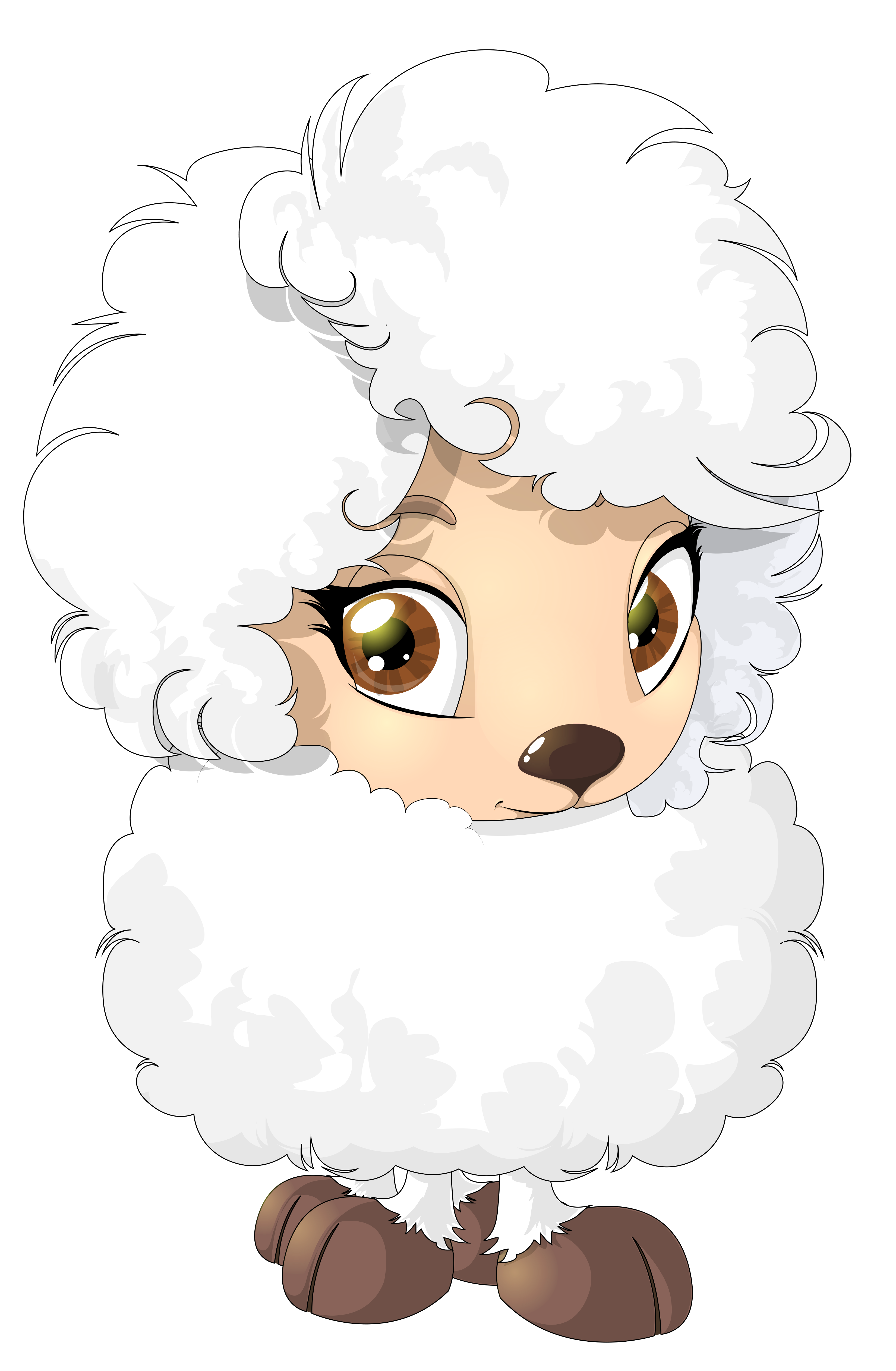 Cute Sheep PNG Clipart Picture - Cute Lamb PNG HD