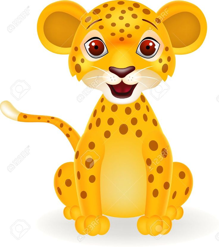 Animals For u003e Cute Cartoon Baby Leopard | Craft - Kid Stencil Ideas |  Pinterest | Baby leopard and Cartoon - Cute Leopard PNG