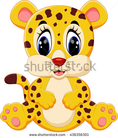 Cute leopard cartoon - Cute Leopard PNG