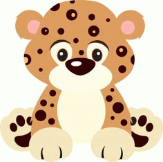 pin Adorable clipart baby leopard #9 - Cute Leopard PNG