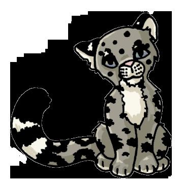 pin Snow Leopard clipart cute #8 - Cute Leopard PNG