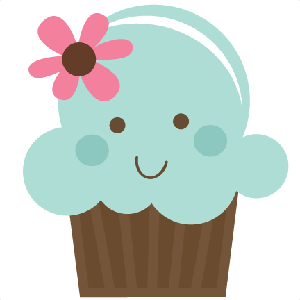 Cute Cupcake Svg File For Cards Scrapbooking Free Svgs Clipart - Cute Muffin PNG