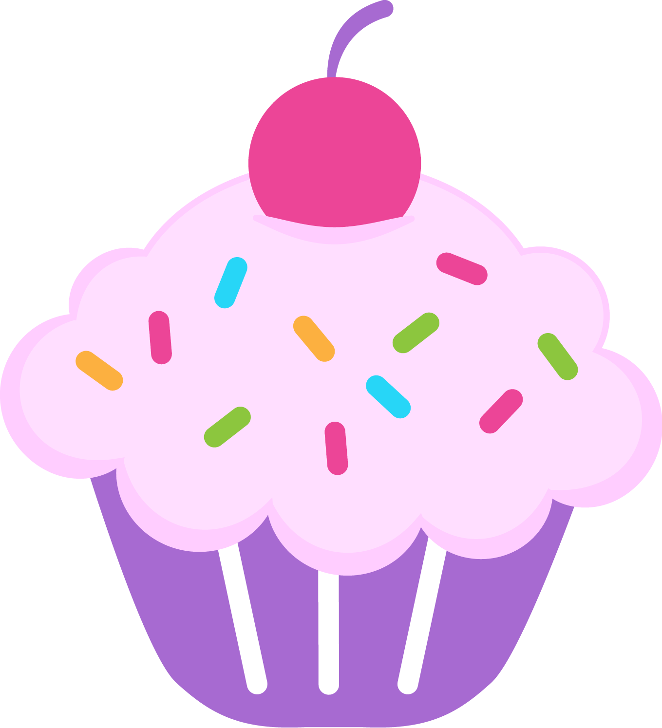 Happy Birthday Cupcake Clip Art And Nice Photo - Cute Muffin PNG