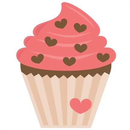 Valentine Cupcake SVG file for scrapbooking cardmaking valentines svg files  free svgs cute svg cuts - Cute Muffin PNG